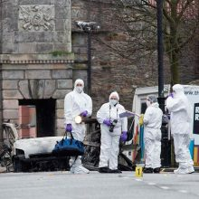 Šiaurės Airijoje prie teismo rūmų sprogo automobilyje padėta bomba
