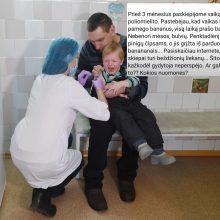 Plinta absurdiški pasakojimai apie skiepus: po vakcinos vaikas nori tik bananų