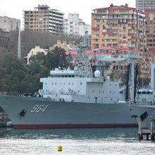 Sidnėjaus gyventojus nustebino netikėtai atplaukę Kinijos karo laivai