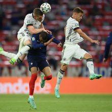 Futbolo sunkiasvorių akistatoje Miunchene – prancūzų triumfas