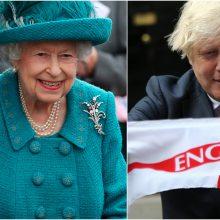 Karalienė ir premjeras linki Anglijos rinktinei pergalės Europos futbolo čempionate