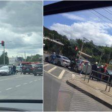 Netoli Kauno geležinkelio stoties – keturių automobilių avarija