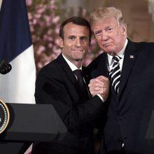 Ar D. Trumpo ir E. Macrono bičiulystė iš tiesų reiškia, kad jie rado bendrą kalbą?