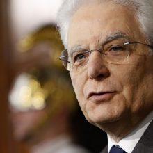 Italijos prezidentas nebemato perspektyvų daugumos vyriausybei sudaryti