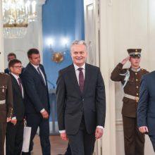 Latvijos prezidentas: esame nusiteikę išspręsti jūros sienos su Lietuva klausimą