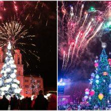 Kauno Kalėdų eglės abejingų nepalieka: šių metų ar pernykštė labiau žavi?