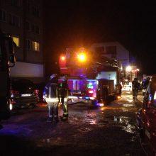 Kauno ugniagesius ant kojų sukėlė gaisras daugiabutyje