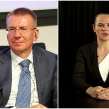 Ministras: Latvija nemato galimybės pripažinti S. Cichanouskają rinkimų nugalėtoja