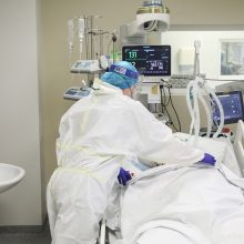 Ligoninėse šiuo metu gydomi 1185 COVID-19 pacientai, iš jų 106 – reanimacijoje