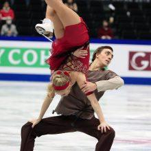 Ledo šokių pora S. Ambrulevičius ir A. Reed pasaulio čempionate užėmė 17-ąją vietą