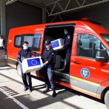Rumunijos atsiųsta respiratorių siunta papildys medicinos rezervą