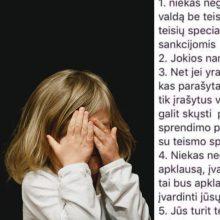 Panika dėl atimamų vaikų nesibaigia: kaip į patarimus internete reaguoja pareigūnai?