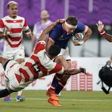 Pasaulio regbio čempionatas prasidėjo gražia japonų pergale prieš rusus