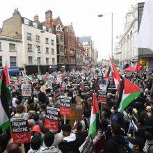 Europos miestuose vyko palestiniečius remiančios demonstracijos