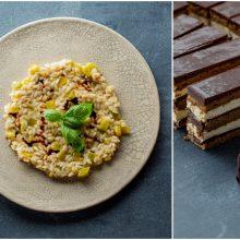 "Savaitgalio pietums – rizotas su moliūgu ir prancūziškas tortas ""Opera"""