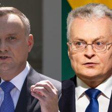 Lenkijos prezidentas apie G. Nausėdą:  į daug dalykų mūsų požiūriai panašūs