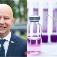 A. Veryga: planuojant vakcinų pirkimą, rizikas ketinama mažinti minimaliai