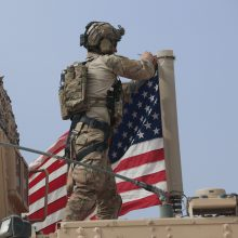 JAV atstovai išlieka optimistiški dėl paliaubų Sirijoje