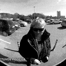 Pareigūnai prašo pagalbos – atpažinti vaizdo kameros užfiksuotą moterį