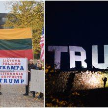 Vilniuje surengta D. Trumpo palaikymo akcija sulaukė policijos dėmesio