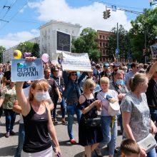 Rusijoje vyksta masiniai protestai prieš populiaraus gubernatoriaus S. Furgalo areštą