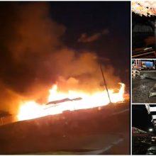 Šilainių turgavietėje – didžiulis gaisras: degė atvira liepsna