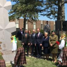 Čikagoje atidengtas paminklas Lietuvos partizanų vadui A. Ramanauskui-Vanagui