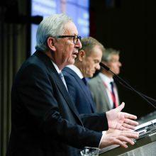 """Briuselis: ES viršūnių susitikimas dėl """"Brexit"""" patvirtino bloko vieningumą"""