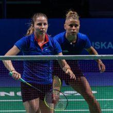 Lietuvos badmintonininkės Europos žaidynėse patyrė antrąjį pralaimėjimą