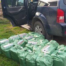 Šiaulių policija sulaikė vyrus su daugiau nei 12 tūkst. kontrabandinių rūkalų pakelių