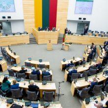 Seimo kadencijos laikotarpiu siūloma nerengti naujų rinkimų