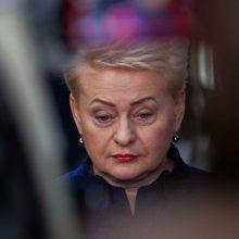 D. Grybauskaitė: matau politikus, kurie bijo atsakomybės
