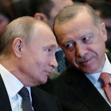 V. Putinas ir R. T. Erdoganas kitą savaitę susitiks derybų Sočyje
