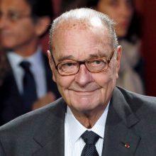 Mirė buvęs Prancūzijos prezidentas J. Chirackas
