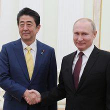 Japonijos ir Rusijos lyderiams nepavyko pasiekti proveržio sprendžiant ginčą dėl salų