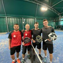 Lietuvos rinktinė pergalingai debiutavo Europos padelio čempionate