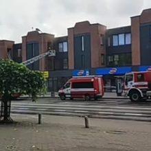 Į Herkaus Manto gatvę lėkė ugniagesiai gelbėtojai: evakuoti gyventojai
