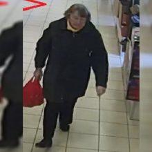 Policija prašo padėti atpažinti įtariamąją: prekybos centre pavogė piniginę