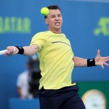 Tenisininkas R. Berankis Prancūzijoje žengė į pusfinalį