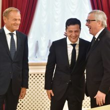 Susitikimas Kijeve: V. Zelenskio pokalbis su ES vadovais