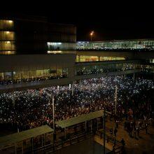 Didžiulių protestų atgarsiai: Barselonos oro uoste atšaukta dešimtys skrydžių