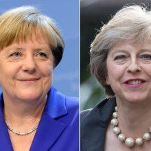 """Berlyne susitiksiančios A. Merkel ir Th. May aptars """"Brexit"""" klausimus"""