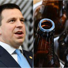 Estijos premjeras: jokio susitarimo su Latvija dėl alkoholio akcizų nepasirašėme