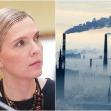 A. Bilotaitė imasi veiksmų: dėl padidėjusios taršos Klaipėdoje kreipėsi į prokuratūrą