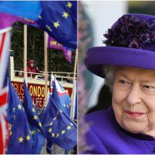 """Didžiosios Britanijos karalienė patvirtino teisės aktą dėl """"Brexit"""" atidėjimo"""