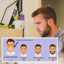 Įspėjimas: jei koronavirusas plis toliau – teks nusiskusti barzdą
