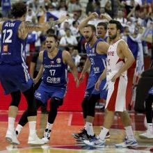 Lemiamame mače Turkiją eliminavusi Čekija tęsia istorinį žygį pasaulio čempionate