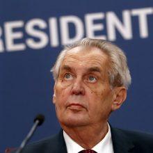 Čekijos prezidentas M. Zemanas guldomas į ligoninę