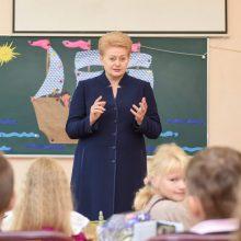 D. Grybauskaitė vedė pilietiškumo pamoką gimnazistams