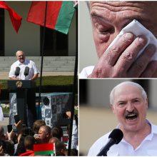 """A. Lukašenka atmeta galimybę surengti naujus rinkimus: šalies """"neatiduos"""" net """"miręs"""""""